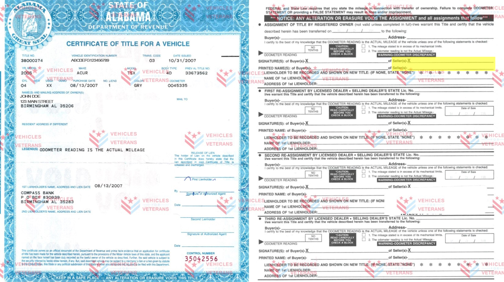 How to fill out your Alabama vehicle title when donating a car